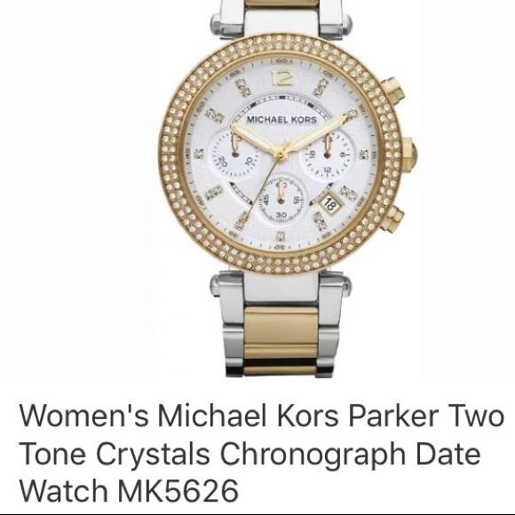 faa5c4161ab9 Michael Kors Parker Two Tone Watch MK5626